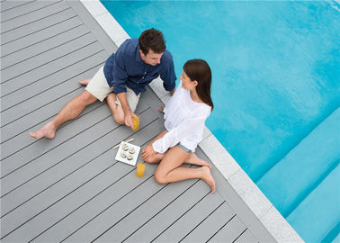 Placa composta cinzenta do Decking de WPC/telhas exteriores do Decking do assoalho